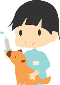 Veterinary Physician with Dog clipart