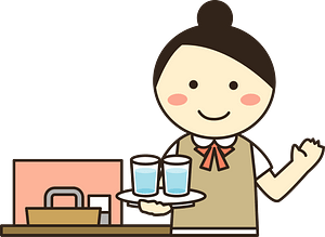 Waitress in a Restaurant clipart