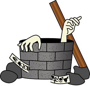 Ghost in a Water Well clipart