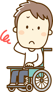 (Antonio) Man in a Wheelchair Is Troubled clipart