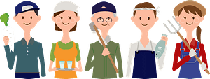 Worker Group clipart