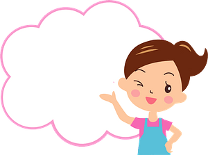 Woman with Thought Balloon clipart