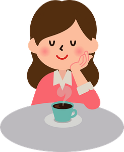 Woman Is Drinking Coffee clipart