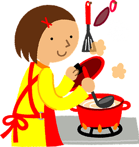 Woman Is Cooking clipart
