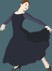 Woman Is Dancer clipart