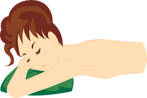 Woman at the Day Spa clipart