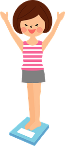 Woman Having Diet Success clipart