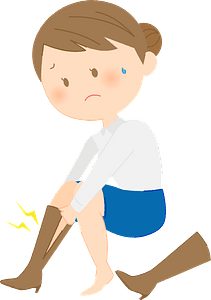 Woman with Edema in Her Legs clipart