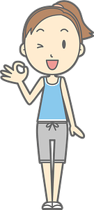 (Lisa) Woman Is Giving Okay Sign clipart