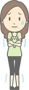 (Jenny) Woman Is Cold clipart