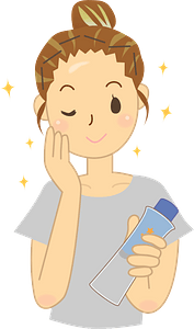 Woman Doing Skin Care clipart