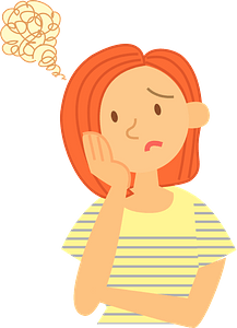 Troubled Woman clipart