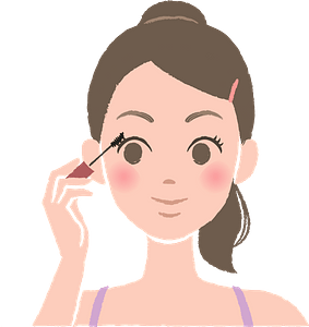 Woman Is Putting on Mascara clipart