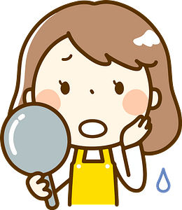 (Melissa) Woman Is Looking in the Mirror clipart