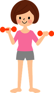 Woman Is Muscle Training clipart