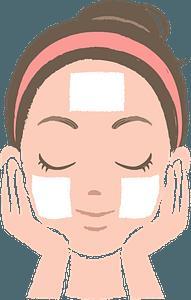 Woman Doing Skincare clipart
