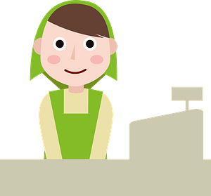Woman Supermarket Staff clipart