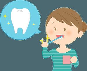 Woman Brushing Teeth clipart