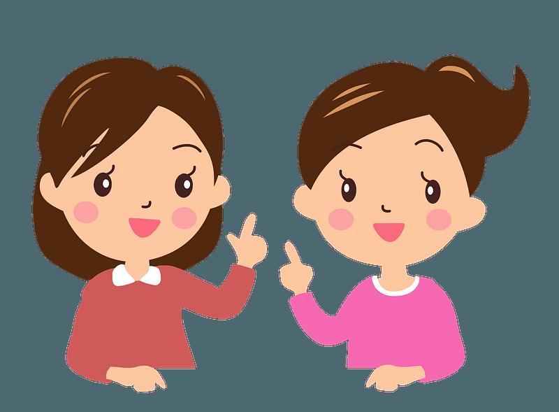 Women in Conversation clipart