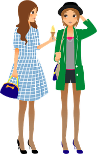 Women as Friends clipart