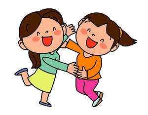 Women Are Laughing in Joy clipart