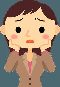Worried Businesswoman clipart