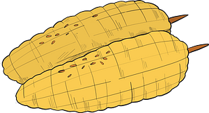 Grilled corn clipart