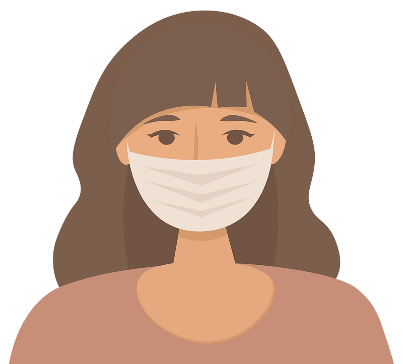 Woman with face mask clipart. Free download transparent .PNG ...