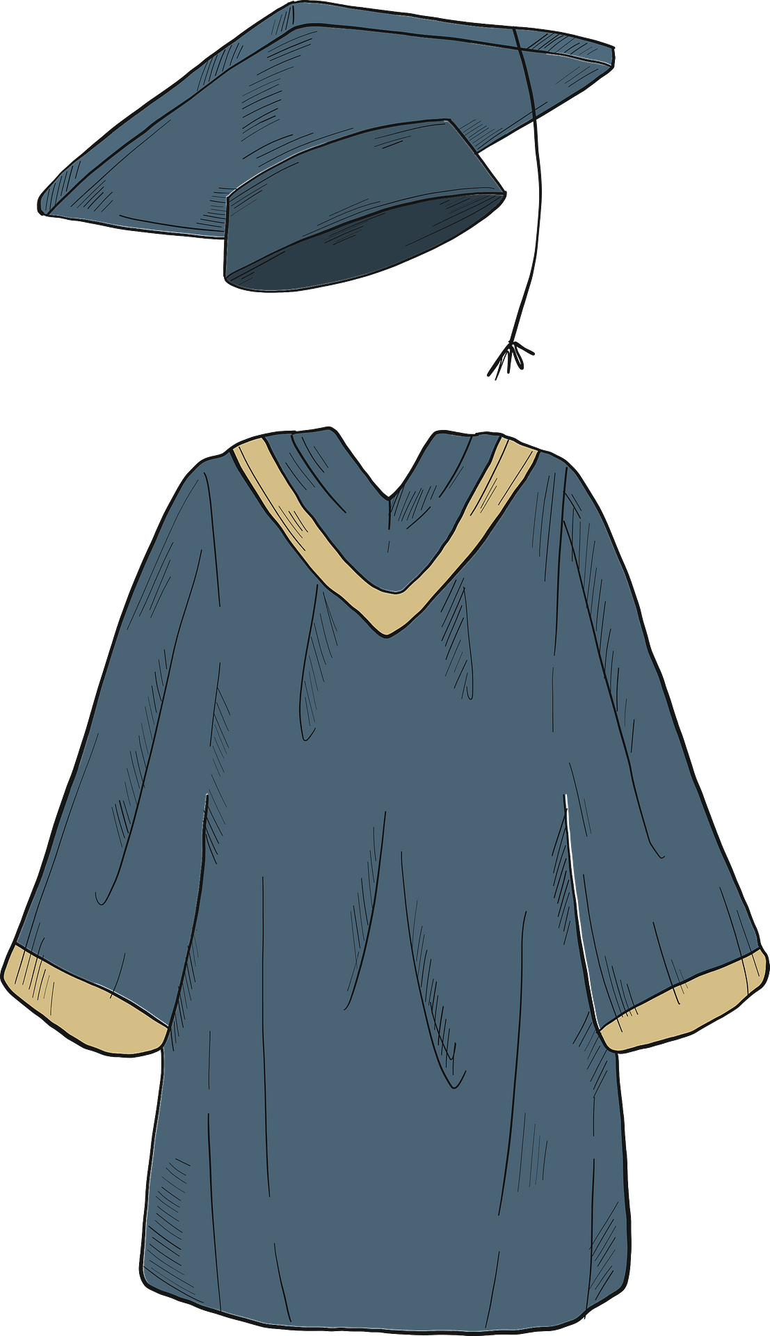 Cap and gown clipart. Free download transparent .PNG | Creazilla