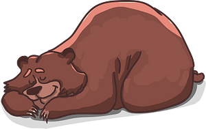 Sleeping bear clipart