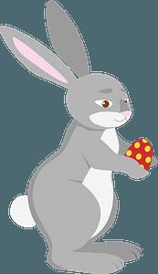 Easter bunnyのクリップアート