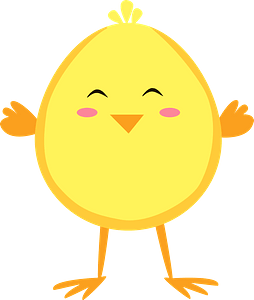Easter chicken clipart