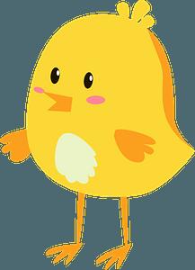 Easter chickenのクリップアート