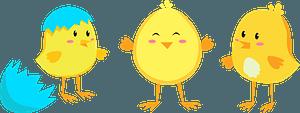 Easter chickensのクリップアート