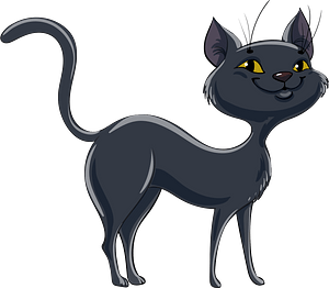 Black cat clipart