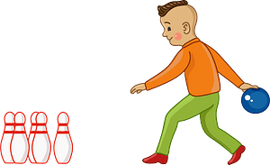 Bowling player clipart