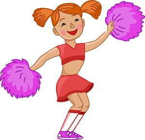 Cheerleader 剪贴画