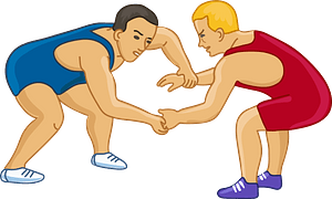 Wrestlers clipart