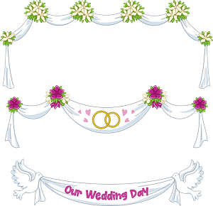 Wedding bunners clipart