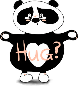 Panda wants a hug clipart