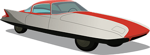 1955 Chrysler (Ghia) Streamline X Gilda clipart