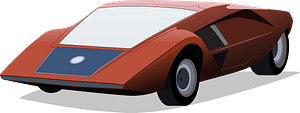 1970 Lancia (Bertone) Stratos HF Zero clipart