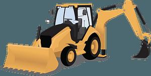 Backhoe loader clipart