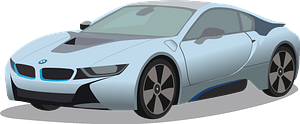 BMW i8 clipart