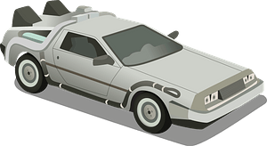Delorean Dmc-12 Time Machine clipart