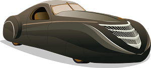 The Duesenberg Coupe Simone Midnight Ghost clipart