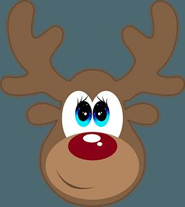 Cartoon deer face clipart