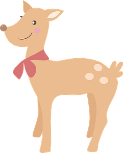 Cute deer clipart