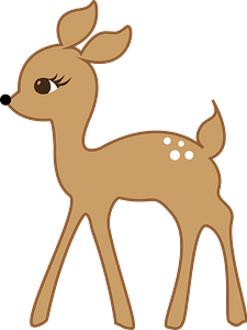 Walking deer clipart