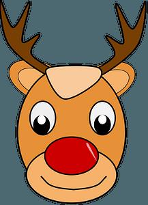 Christmas deer face clipart